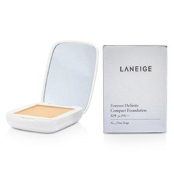 LaneigeForever Definite Compact Foundation SPF 32 - # No. 3 Sand Beige 9g/0.3oz