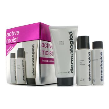 Active Moist Limited Edition Set: Active Moist 100ml + Dermal Clay Cleanser 50ml + Precleanse 30ml