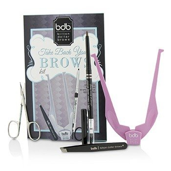 Billion Dollar Brows Take Back Your Brows Kit: 1x Brow Buddy 1x Universal Brow Pencil 1x Tweezers 1x Scissors 4pcs
