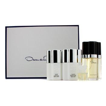 Oscar De La Renta Oscar Coffret: Eau De Toilette Spray 50ml/1.6oz + Body Lotion 50ml/1.6oz + Body Bath 50ml/1.6oz + Miniature 4ml/0.13oz  4pcs