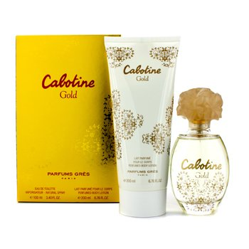 Gres Cabotine Gold Coffret: Eau De Toilette Spray 100ml/3.4oz + Body Lotion 200ml/6.76oz  2pcs