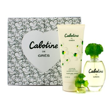 Gres Cabotine Coffret: Eau De Toilette Spray 100ml/3.4oz + Body Lotion 200ml/6.76oz + Miniature  3pcs