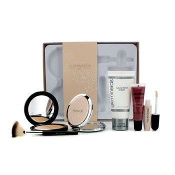 GloMineralsIllumination Kit: (1xShimmer Duo, 1xEye Revitalize, 1xLiquid Lips, 1xHand Cream, 1xCompact Mirror, 1xMini Brush) 6pcs