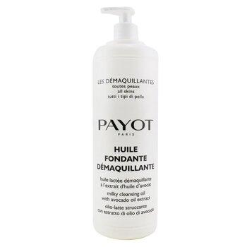 PayotHuile Fondante Demaquillante Aceite Limpiador Lechoso - Para Todo Tipo de Piel (Tama�o Sal�n) 1000ml/33.8oz
