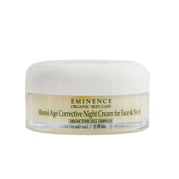 Eminence Monoi Age Corrective Night Cream for Face & Neck (Normal to Dry Skin  Especially Mature) 60ml/2oz