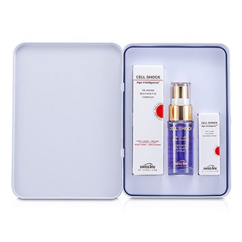 Swissline Cell Shock Set: Restorative Complex 7ml/0.2oz + Vital Essence 15ml/0.5oz + Recovery 3D Hand Cream 3ml/0.1oz 3pcs