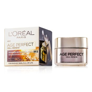 L'OrealCreme Diurno Age Perfect Cell Renew Advanced Restoring SPF 15 50ml/1.7oz