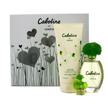 GresCabotine Coffret: Eau De Toilette Spray 100ml/3.4oz + Loci�n Corporal 200ml/6.76oz + Miniature (Hearts Box) 3pcs