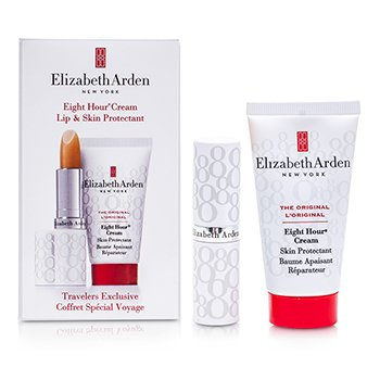 Elizabeth ArdenProtetor de pele e labial - Eight Hour Cream Set: Skin Protectant 30ml + Lip Protectant Stick SPF 15 2pcs