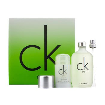 Calvin Klein CK One Coffret: EDT Spray 100ml/3.4oz + Deodorant Stick 75g/2.6oz 2pcs