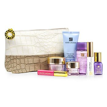 Est�e LauderTravel Set: Cleanser 30ml + Optimizer 30ml + Neck Cream 15ml + Serum 7ml + Eye Cream 5ml + Mascara #01 + Lip Gross #26 + Bolsa 7pcs+1bolsa