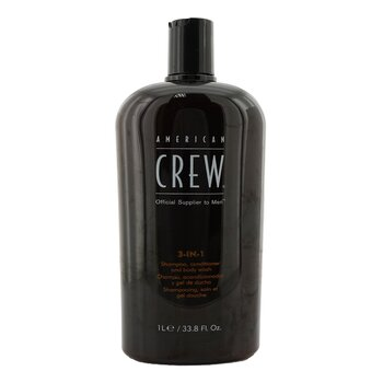 American Crew Men Classic 3-IN-1 Shampoo  Conditioner & Body Wash 1000ml/33.8oz