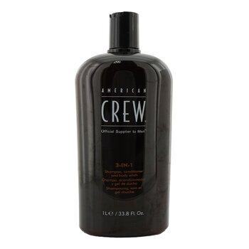 American Crew Men Classic 3-IN-1 Shampoo, Conditioner & Body Wash  1000ml/33.8oz