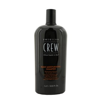 American Crew Men Daily Moisturizing Shampoo (For All Types of Hair)  1000ml/33.8oz