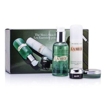 La Mer Essentials Set: Cleansing Gel 100ml + Moisturizing Lotion 50ml + Eye Concentrate 5ml + Lip Balm 9g + Bag 4pcs+1bag