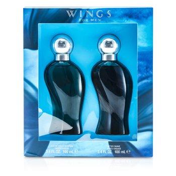 Giorgio Beverly Hills Wings Coffret: Eau De Toilette Spray 100ml/3.4oz + After Shave 100ml/3.4oz 2pcs