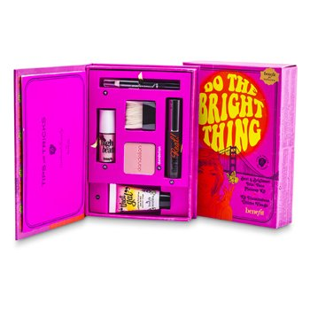 Benefit Do The Bright Thing Makeup kit: 1x Face Primer  1x Complexion Enhancer  1x Face Powder  1x Mascara  1x Eye Pencil 6pcs