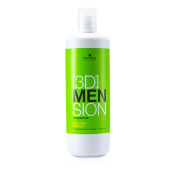 Schwarzkopf[3D] Mension Hair & Body Shampoo 1000ml/33.8oz