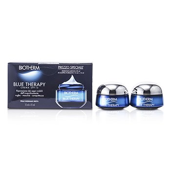 BiothermBlue Therapy Cream SPF 15 (Normal / Combination Skin) 2x(15ml/0.5oz)