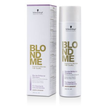 SchwarzkopfBlondme Blonde Brilliance Shampoo - Warm Caramel (For Bleached & Coloured Blondes) 250ml/8.4oz