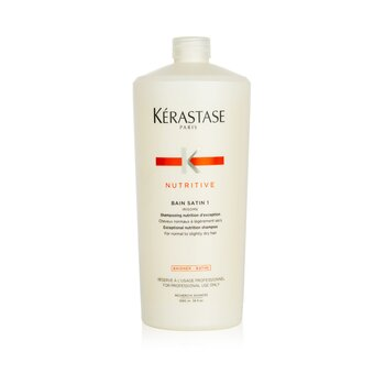 KerastaseNutritive Bain Satin 1 Exceptional Nutrition Shampoo (For Normal to Slightly Dry Hair) 1000ml/34oz