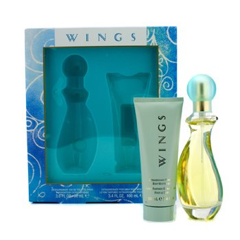Giorgio Beverly HillsWings Coffret: Eau De Toilette Spray 90ml/3oz + Body Moisturizer 100ml/3.4oz 2pcs