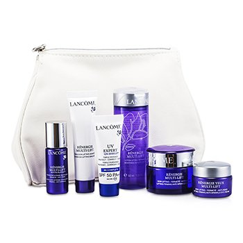 Lanc�meRenergie Multi-Lift Travel Set: Beauty Lotion + Anti-Wrinkle Cream + Emulsion + Concentrate + BB Complete + Creme p/ Olhos + Bolsa 6pcs+1bag