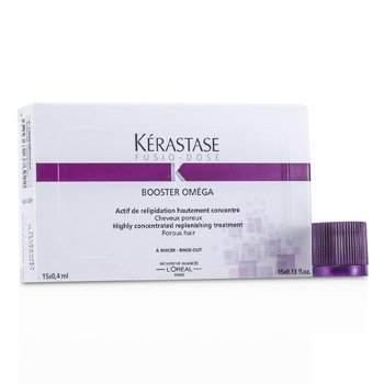 KerastaseFusio-Dose Booster Omega Highly Concentrated Replenishing Treatment (For Porous Hair) 15x0.4ml/0.13oz
