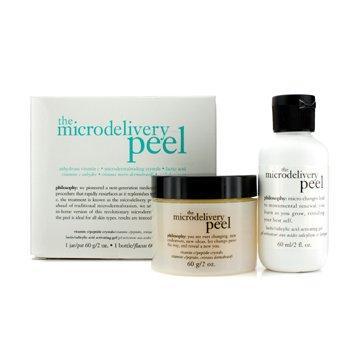 PhilosophyThe Microdelivery Peel: Lactic/Salicylic Acid Activting Gel 60ml/2oz + Vitamin C/Peptide Crystals 60g/2oz 2pcs