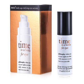PhilosophyTime In A Bottle For Eyes (Daily Age-Defying Eye Serum) 15ml/0.5oz