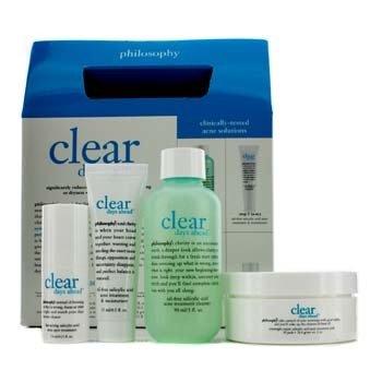 PhilosophyClear Days Ahead Kit: Cleanser 90ml/3oz + Moisturizer 15ml/0.5oz + Treatment Pads 30 pads + Spot Treatment 7ml/0.25oz 4pcs