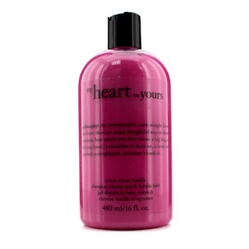 PhilosophyMy Heart To Yours Shampoo, Shower Gel & Bubble Bath - Sweet Citrus Vanilla 480ml/16oz