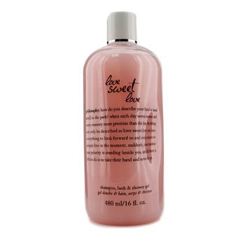 PhilosophyLove Sweet Love Shampoo, Bath & Shower Gel 480ml/16oz