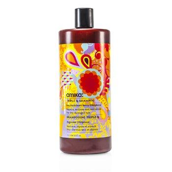 Amika Triple RX Shampoo (For Dry, Damaged Hair)  1000ml/33.8oz
