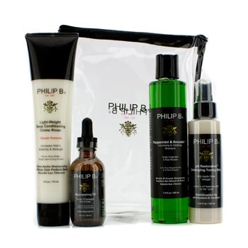 Philip B Four Step Hair & Scalp Treatment Set – Classic Formula (For All Hair Types) 4pcs