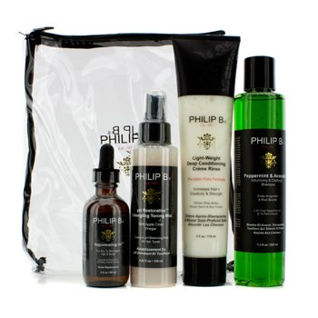 Philip B Four Step Hair & Scalp Treatment Set – Paraben Free (For All Hair Types) 4pcs