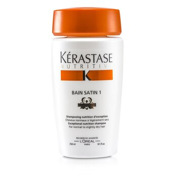 KerastaseNutritive Bain Satin 1 Exceptional Nutrition Shampoo (For Normal to Slightly Dry Hair) 250ml/8.5oz