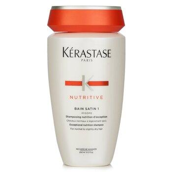 Kerastase Nutritive Bain Satin 1 Exceptional Nutrition Shampoo (P/ cabelo normal e seco)  250ml/8.5oz