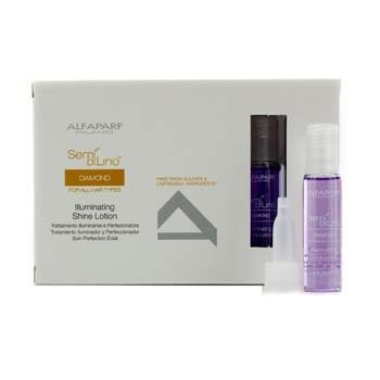 AlfaParf Semi Di Lino Diamond Illuminating Shine Lotion (For All Hair Types) 12x13ml/0.43oz