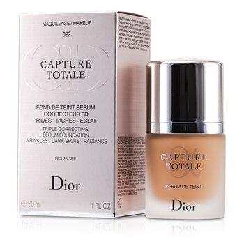 Christian Dior Capture Totale Triple Correcting Serum Foundation SPF25 - # 022 Cameo  30ml/1oz
