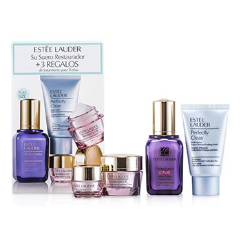Estee LauderSet Lifting/Reafirmante: Perfectionist [CP+R] Suero + Resilience Crema Lift + Crema de Ojos + Perfectly Clean 4pcs