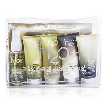 H2O+Sea Salt Must-Haves: Body Wash 60ml + Body Butter 60ml + Body Lotion 60ml + Hand And Nail Cream 60 + Body Gloss 56ml 5pcs