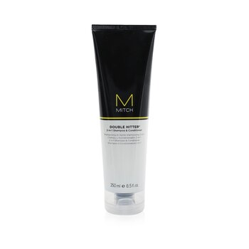 MitchMitch Double Hitter Sulfate-Free 2-in-1 Shampoo & Conditioner 250ml/8.5oz