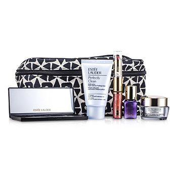 Estee LauderTravel Set: Perfectly Clean + DayWear Cream + Perfectionist [CP+R] + EyeShadow + Mascara #01 + Lipstick #57 & Lip Gloss #25 + Bag 6pcs+1bag