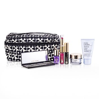 Estee LauderTravel Set: Perfectly Clean + DayWear Cream + Perfectionist [CP+R] + EyeShadow + Mascara #01 + Lipstick #88 & Lip Gloss #33 + Bag 6pcs+1bag