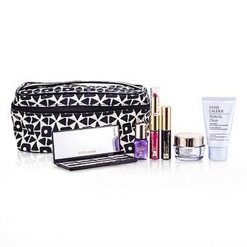 Estee LauderReisesett: Perfectly Clean + DayWear Cream + Perfectionist [CP+R] + �yenskygge + Mascara #01 + Leppestift #88 & Lipgloss #33 + Bag 6pcs+1bag