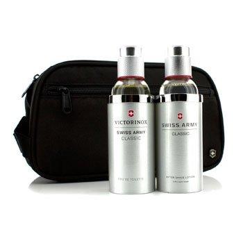 Victorinox Swiss Army Coffret: Eau De Toilette Spray 100ml/3.4oz + Loci�n Para Despu�s de Afeitar 100ml/3.4oz + Bolso  2pcs+Bag
