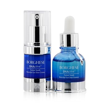 BorgheseDNActive Future Youth Resculpt Eye Duo: Resculpt Eye Duo Essence 20ml/0.67oz + Resculpt Eye Duo Creme 15g/0.5oz 2pcs