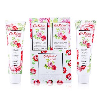 Cath KidstonRose Bath Set: Shower Gel 75ml + Body Cream 75ml 2pcs