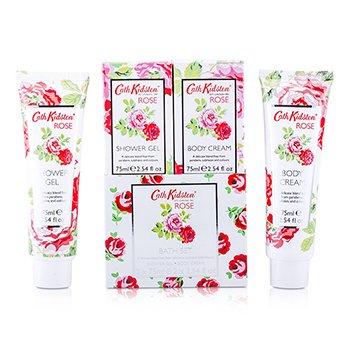 Rose Bath Set: Shower Gel 75ml + Body Cream 75ml